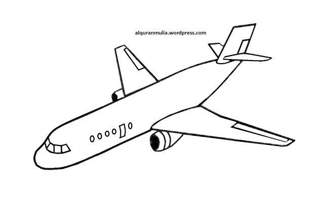 10 Gambar Mewarnai Pesawat Warna