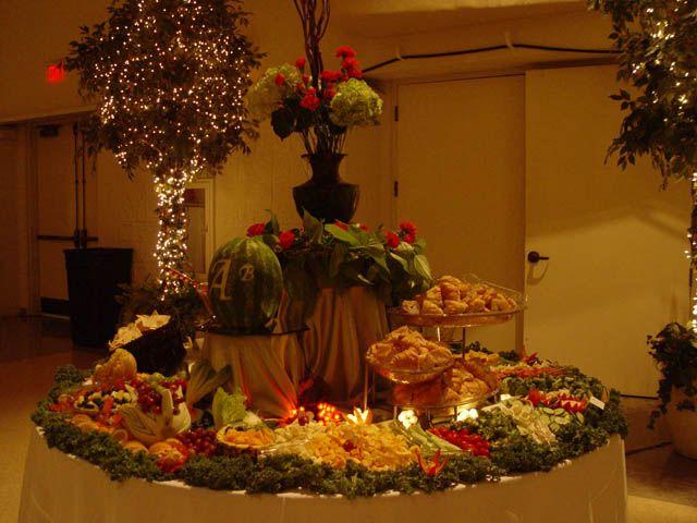 Fruit table setup displays display and weddings