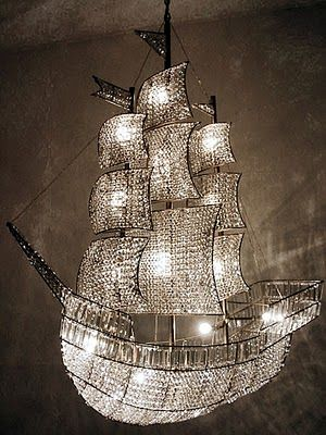 I Can Smell the Saltwater.... This chandelier is just to ...