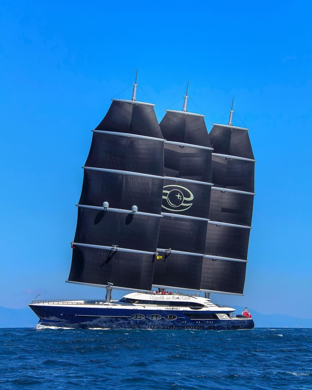 A further cruising shot of S/Y Black Pearl taken on her maiden