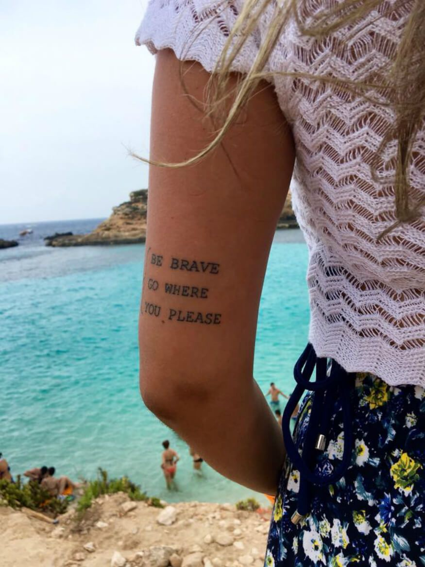 Tatuajes Para Viajeros Un Tatuaje De Br 250 Jula Un Dibujo