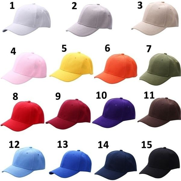 Fashion Plain Baseball Cap Solid Color Blank Curved Visor Hat Adjustable Hat