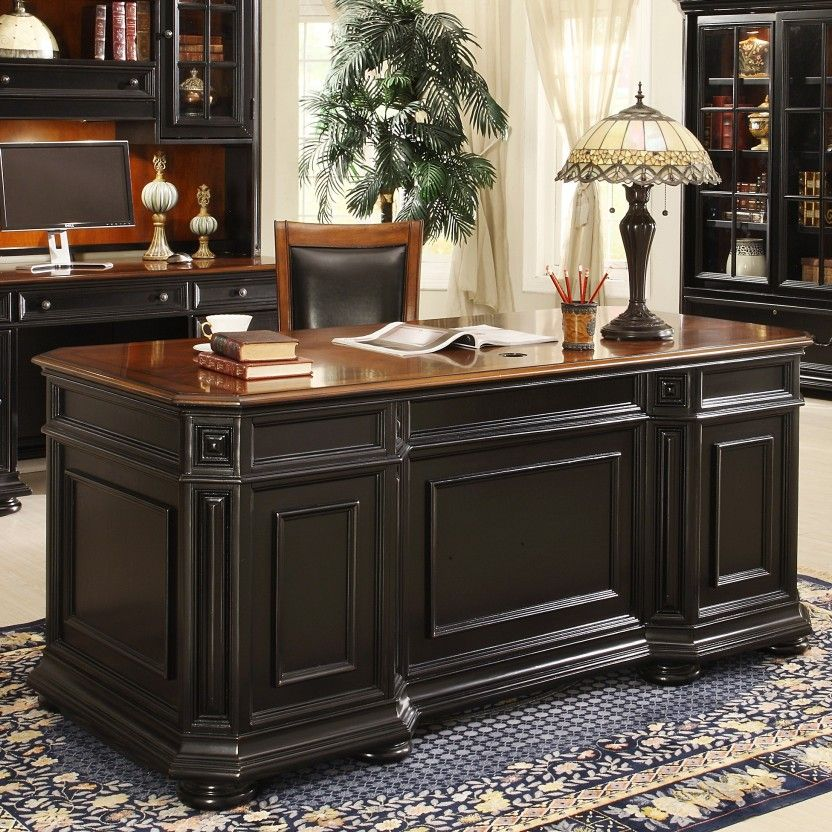 Office Furniture Desks Allegro Cherry Black Executive Desk