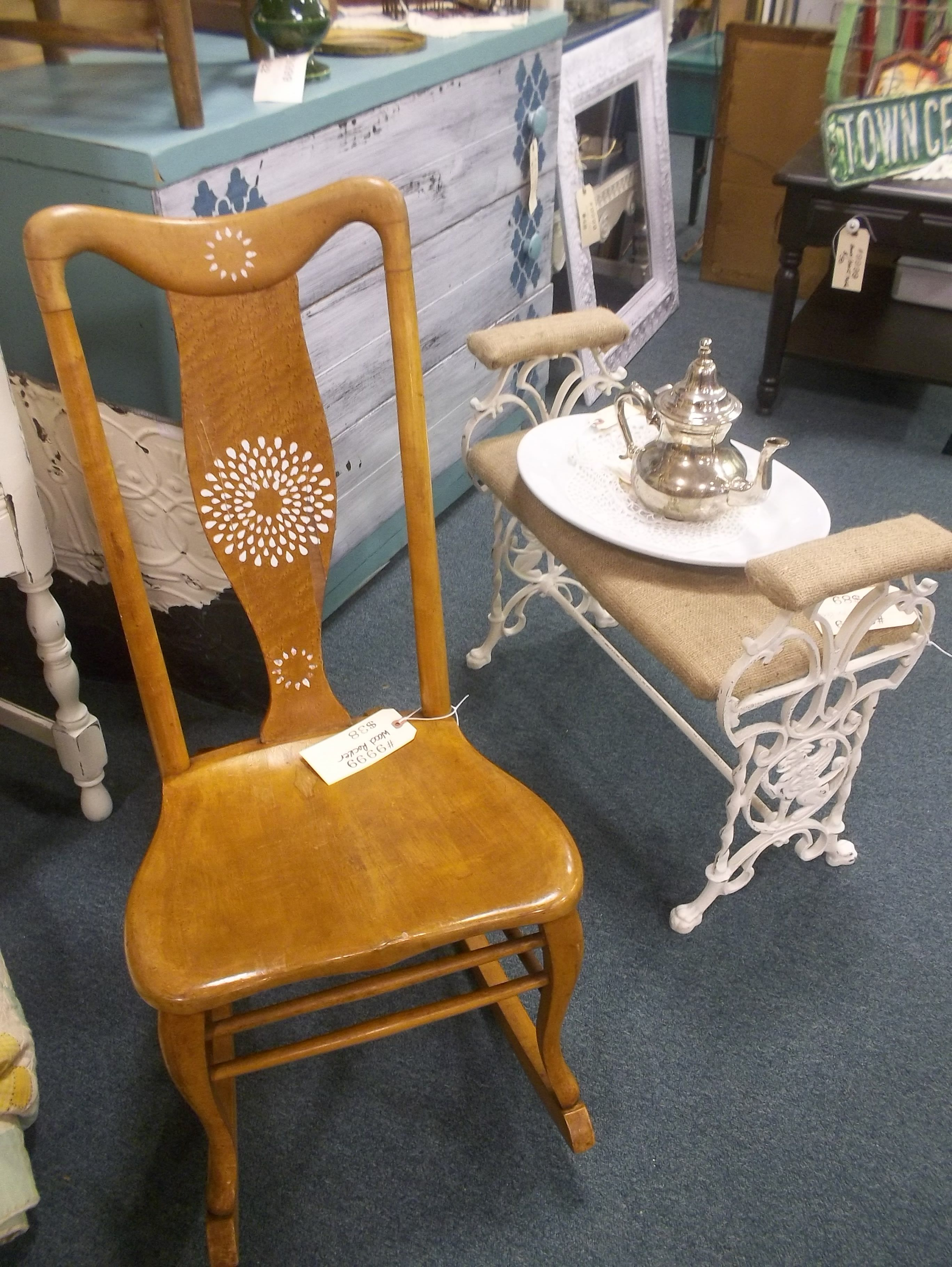 nice old sewing chair