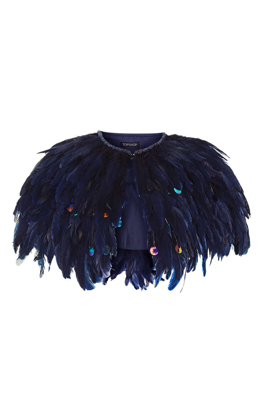 Feather Fringe Cape - Bags & Accessories | Feather cape, Cape and ...