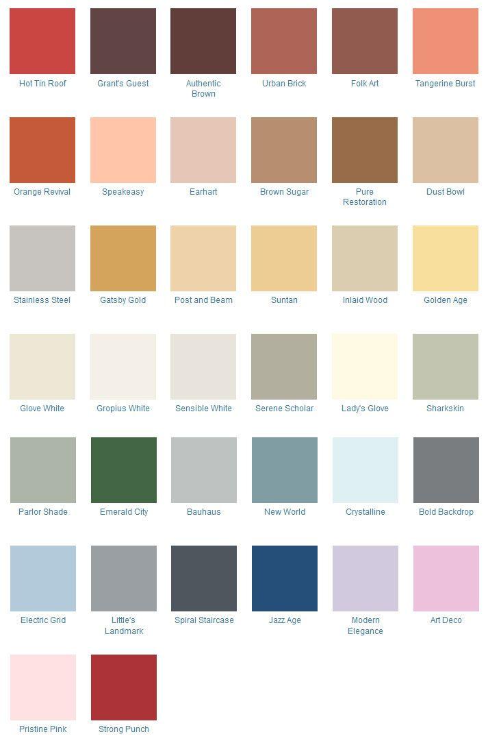 1940s Color Schemes