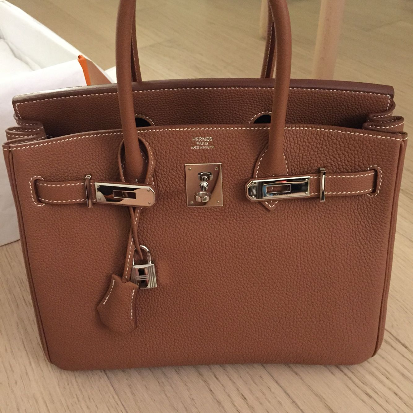 Hermes Birkin Bag 30 Gold
