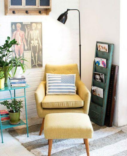 rincon lectura Heminredning Pinterest Cozy room, Corner and