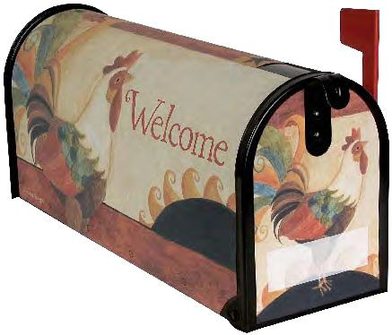 Welcome Rooster Mailbox Cover Painted Mailboxes Mailbox Covers Mailbox Decor