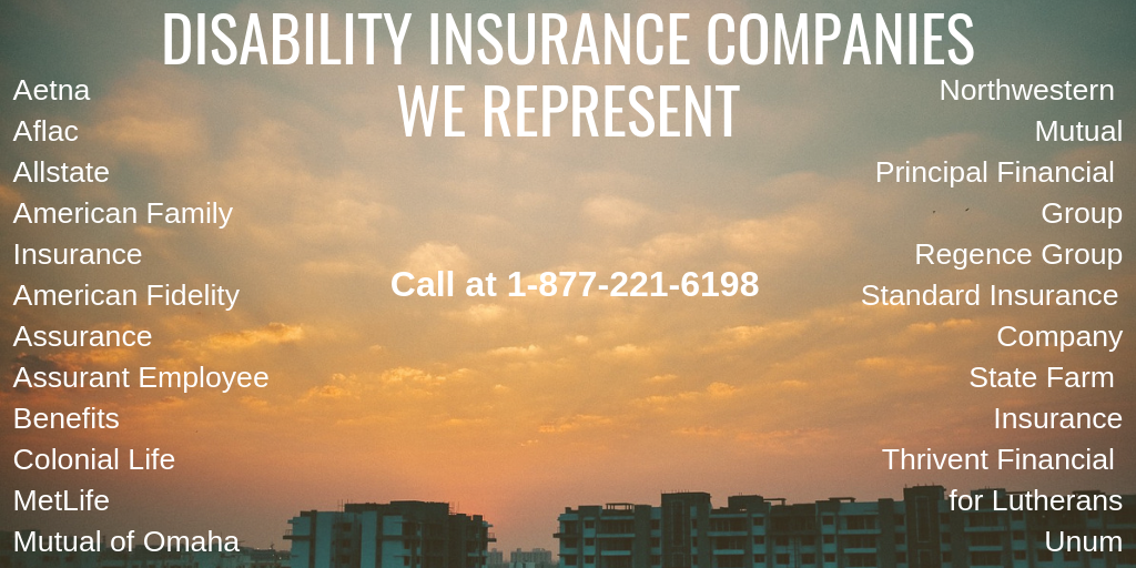 We Represent Many Of The Finest Disability Insurance Companies In
