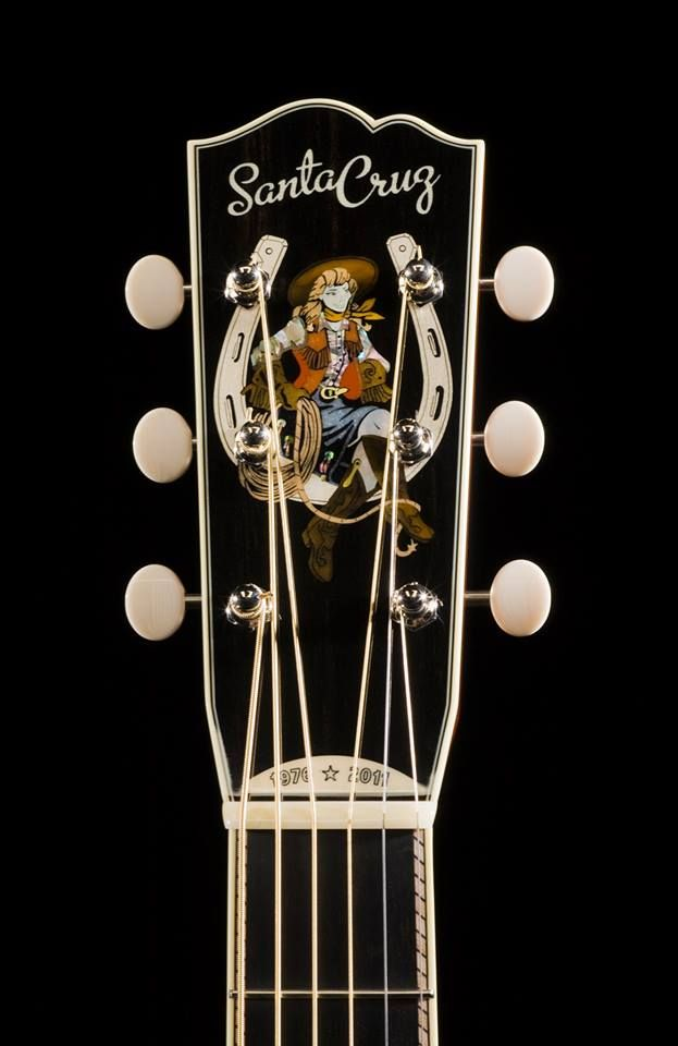 Santa Cruz Guitar Company Cowgirl Guitar Headstock Cool Acoustic