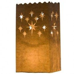10 Lanternes papier deco etoile