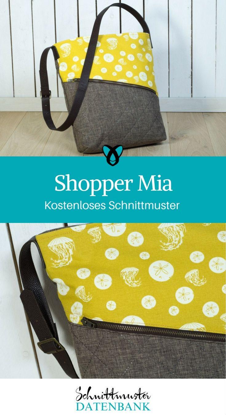 Shopper Mia 5/5 (3) | Shopper tasche, Pattydoo und Taschen nähen