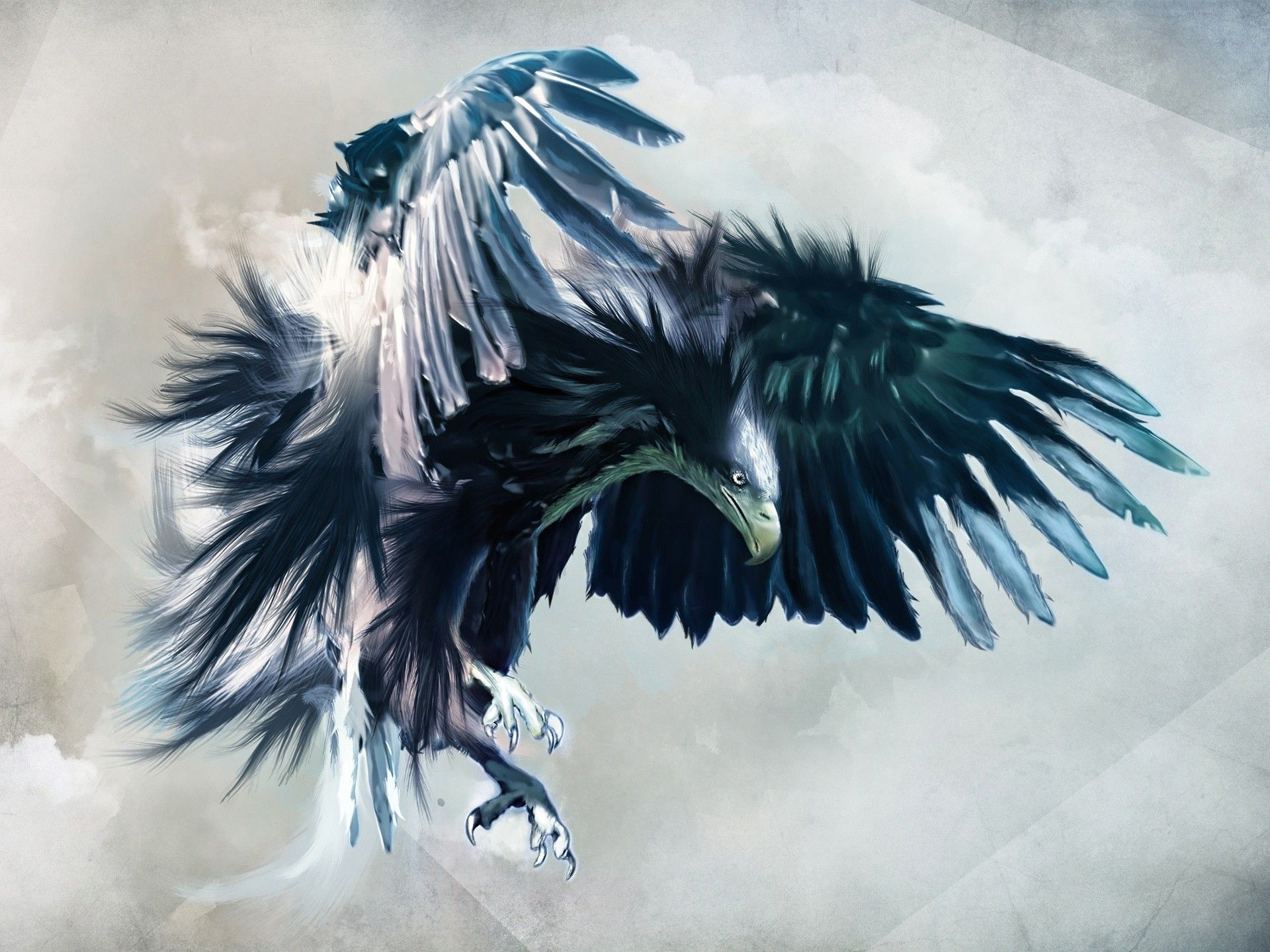 Abstract Birds Eagles Animated Drawings Wallpaper