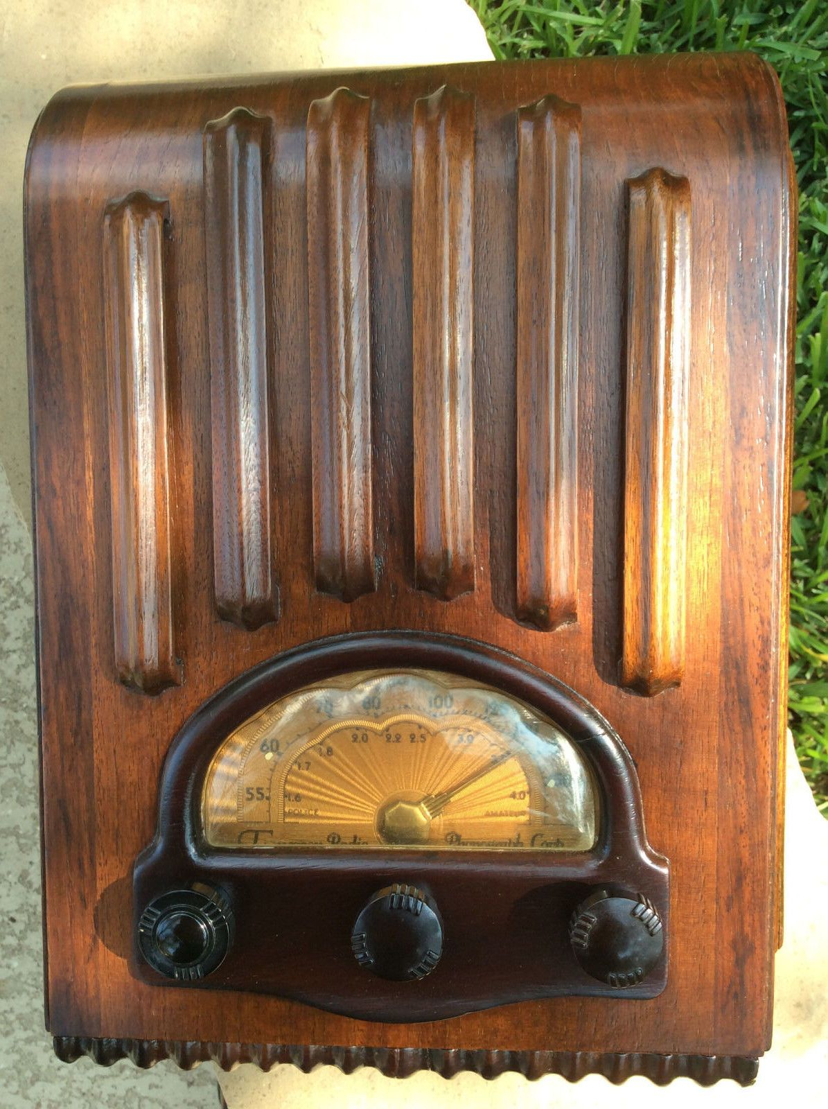 Vintage Emerson 213 Ingraham Wood Mini Tombstone Radio Historical Depression Era | eBay