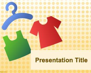 clothing powerpoint template is a free template for powerpoint, Modern powerpoint