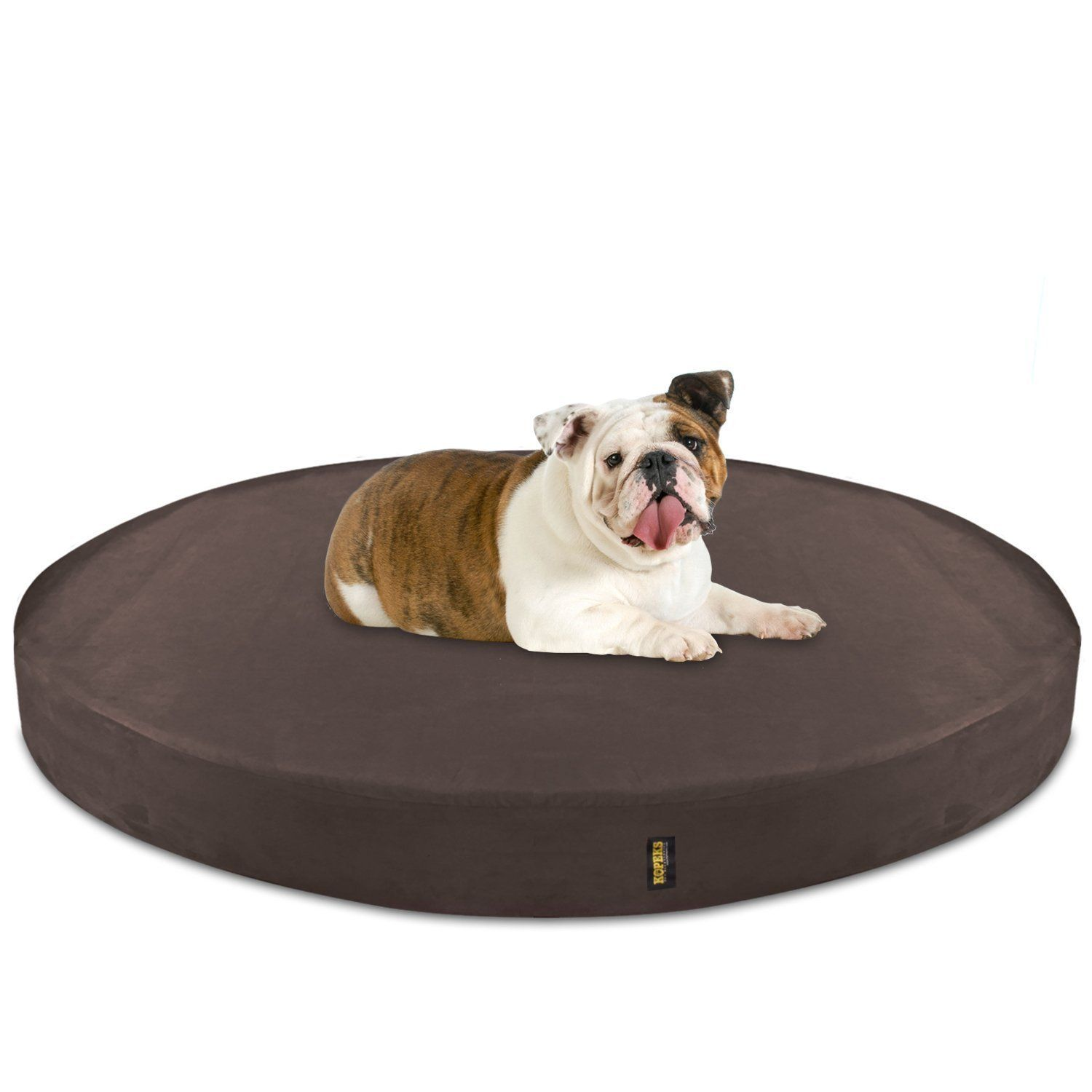 Kopeks Deluxe Orthopedic Memory Foam Round Dog Bed Large Brown Click Image To Review More Details This Is An Affi Dog Bed Large Round Dog Bed Dog Bed