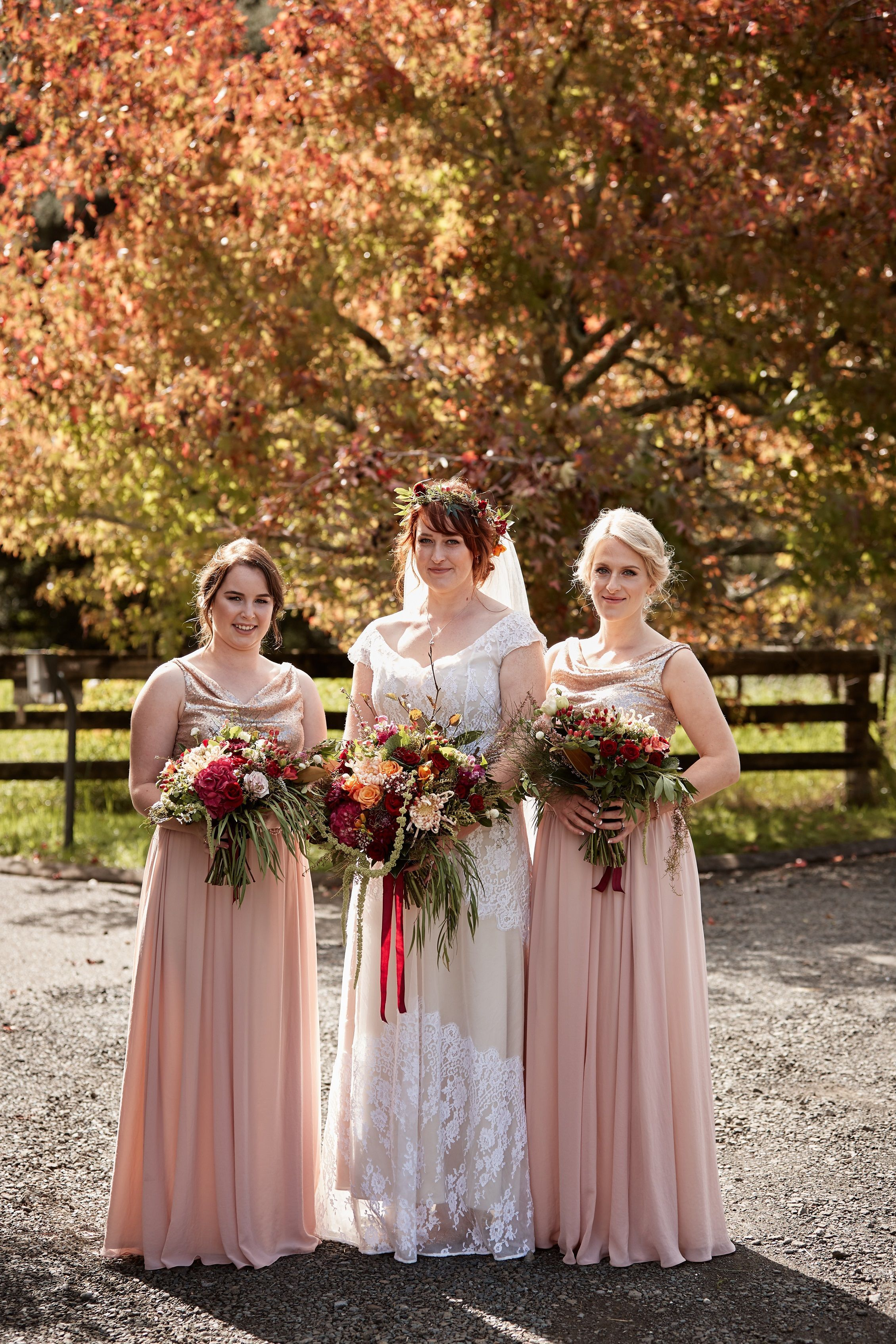 2c314fef87721 REAL WEDDING    ViCTOR Bridesmaids wearing our Esther Skirt in Blush Pink  and IVY Top in Blush Matt Sequins