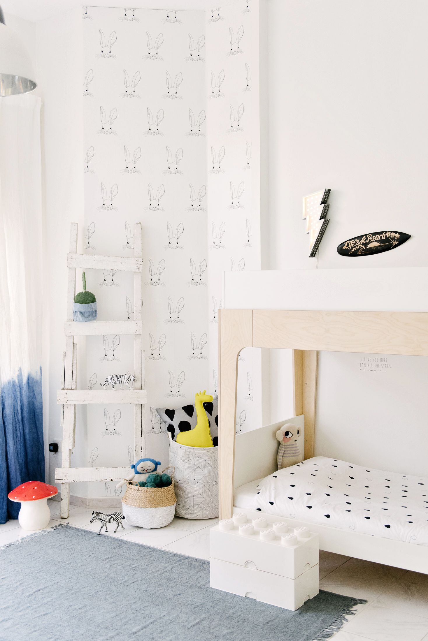 5 Minimal And Playful Wallpapers For A Kids Room Rosario  # Muebles Habia Una Vez Rosario