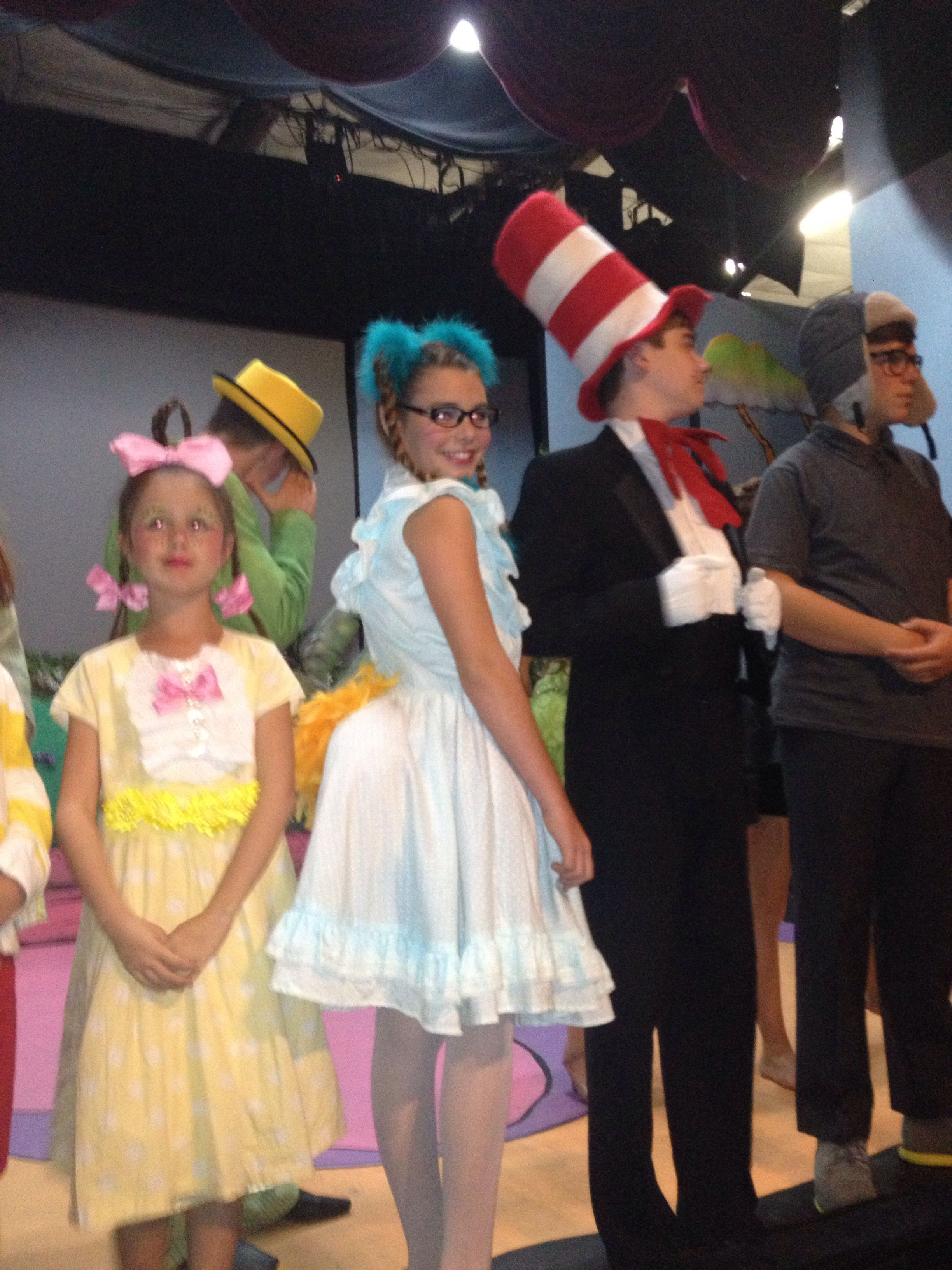 Gertrude, Horton, cat in hat, Cindy Lou who