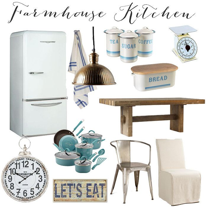 Interiors // Farmhouse Kitchen Inspiration - Lynzy & Co.