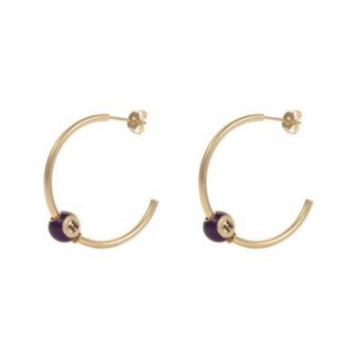 Henry Holland Gold Plated Bingo Ball Hoop Earrings H Samuel the