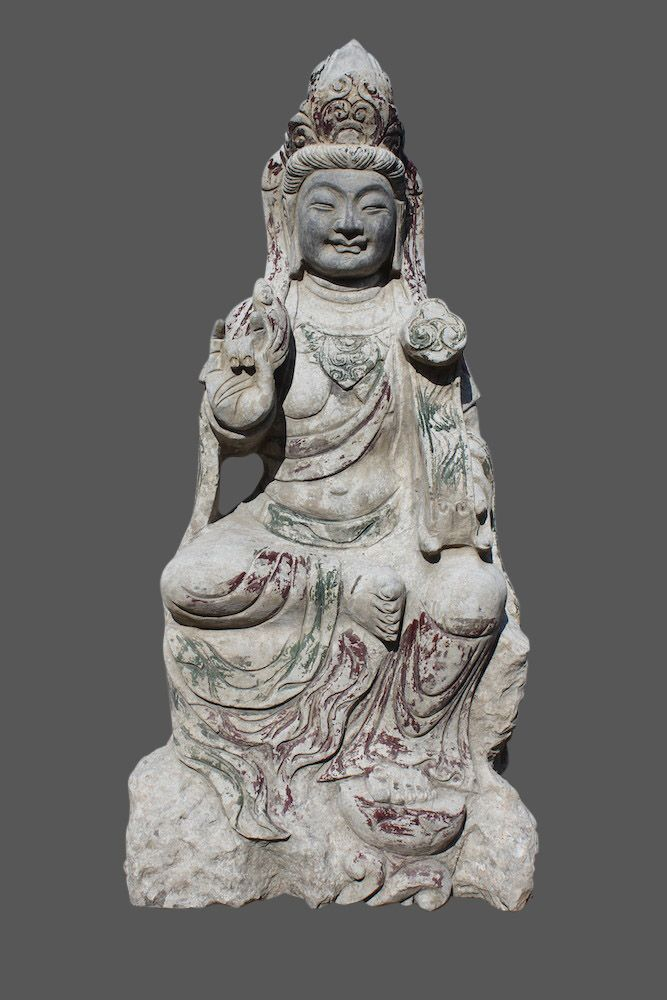 Sitzende Stein Skulptur Aus Dem Norden Chinas Der Garten Buddha Ist Witterungsbestandig Und Kann Ganzjahrig Ihren Garten Buddha Figur Statuen Buddha Statuen