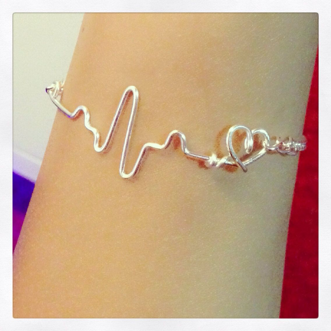 Heartbeat Ekg Bracelet By