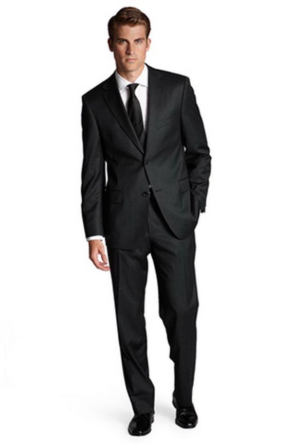 Tuxedo Tailcoat Men's Two Pieces 2 Buttons Men Black Tuxedo Suits ...