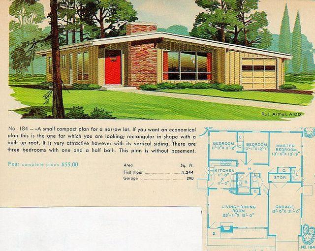 Garlinghouse plan No. 184 | Vintage house plans, Mid ...