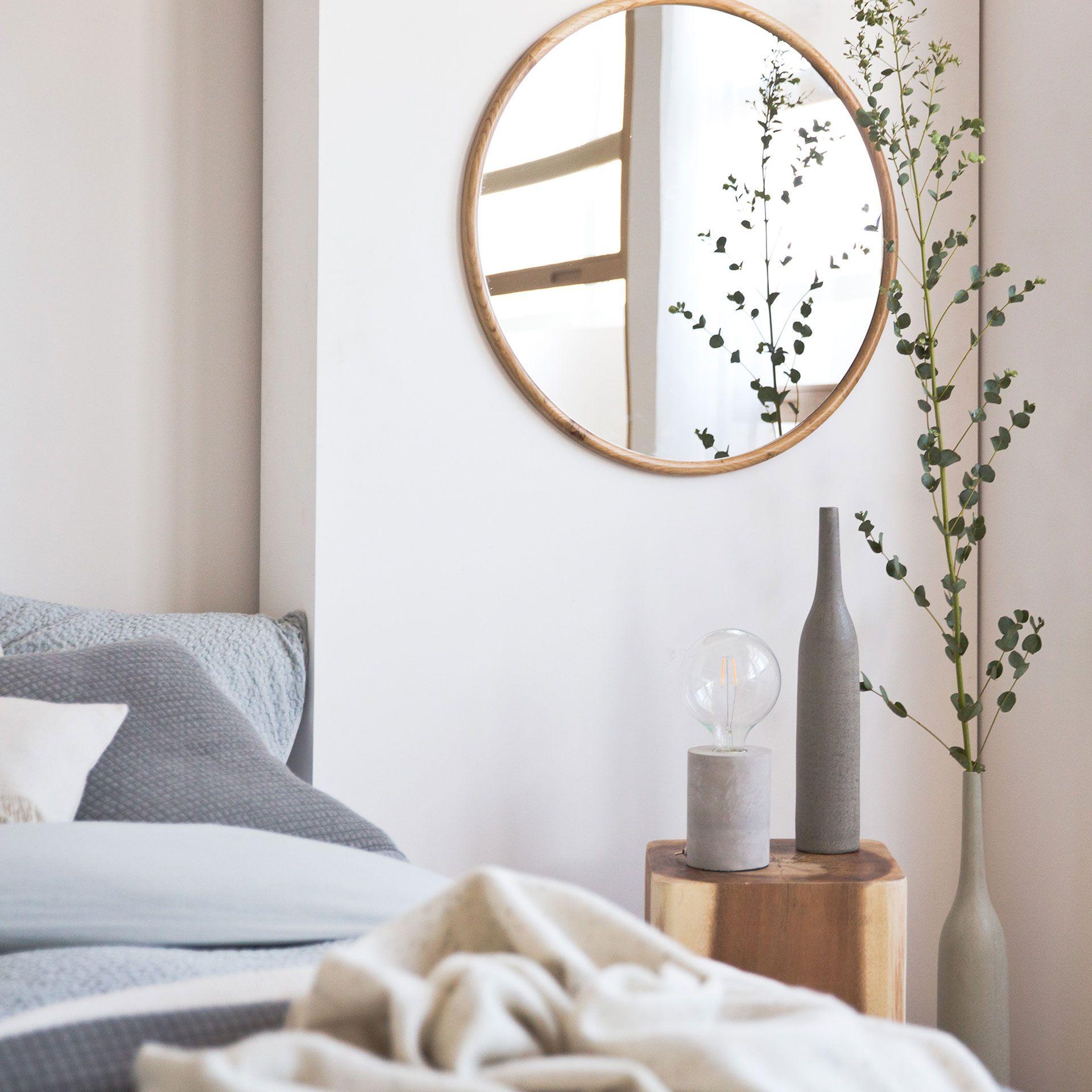 26 round natural wood mirror zara home home goods. Black Bedroom Furniture Sets. Home Design Ideas