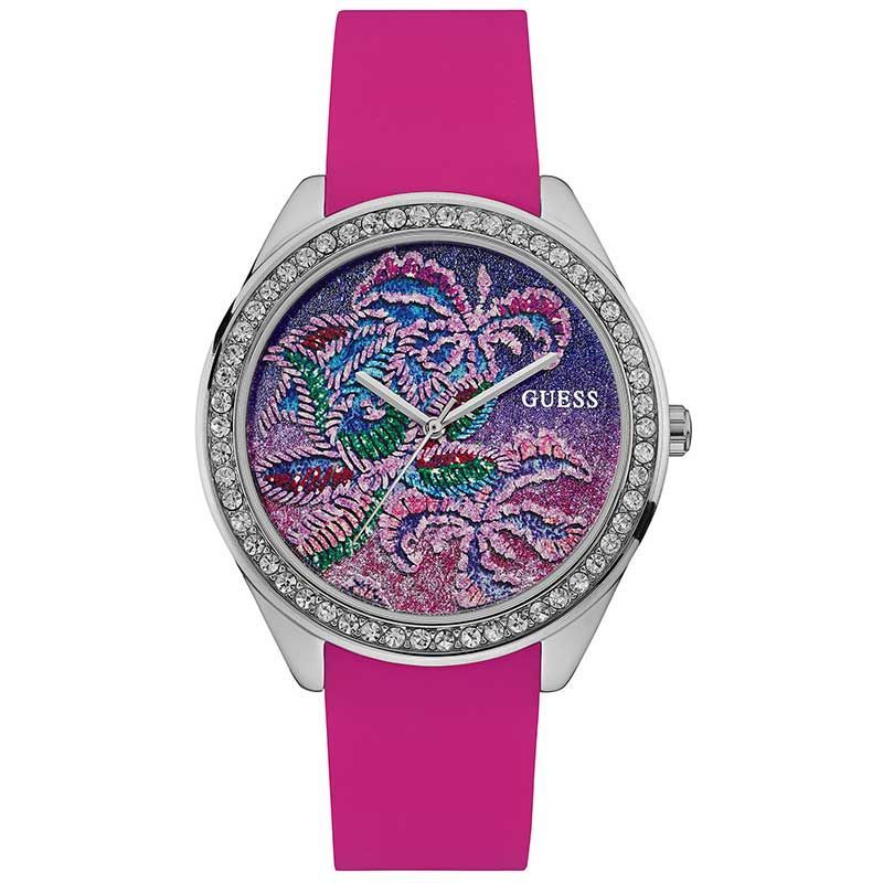 61f915d03 Guess Getaway Pink Ladies Watch W0960L1 #Guess #GuessWatch #Pink #Silver  #Floral #FloralWatch