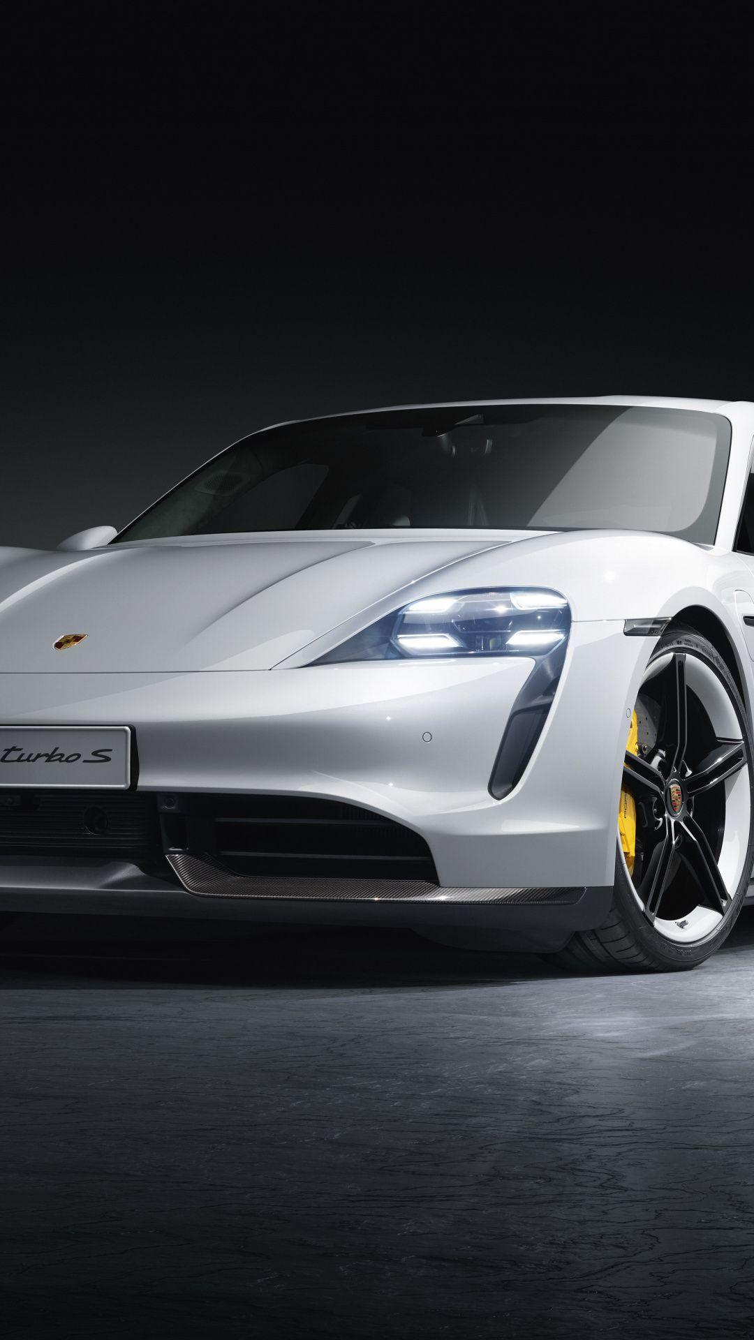1080x1920 Porsche Taycan Turbo White Car 2019 Wallpaper Porsche Taycan White Car Porsche