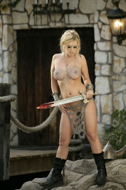 naked viking girl with sword