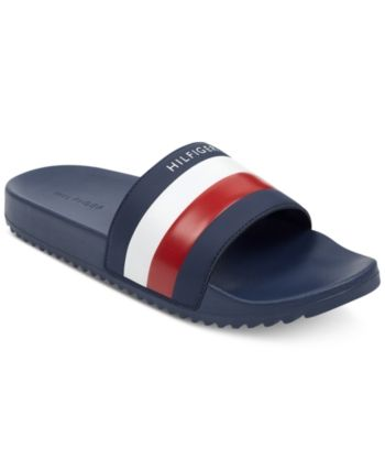 80a35402a Tommy Hilfiger Men s Rox Slide Sandals - Blue 7 in 2019