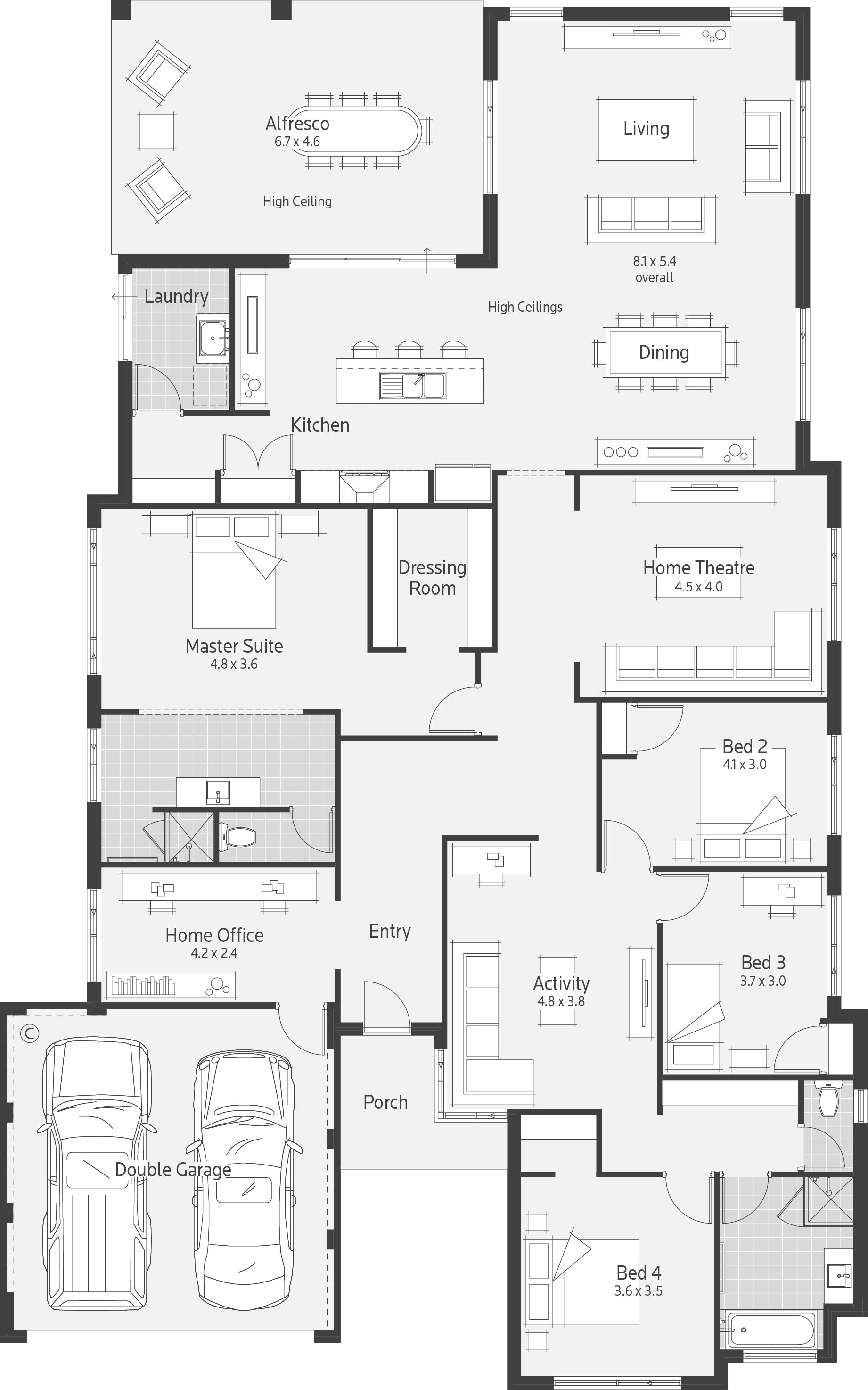 Archer I Dale Alcock Homes In 2019 House Plans House