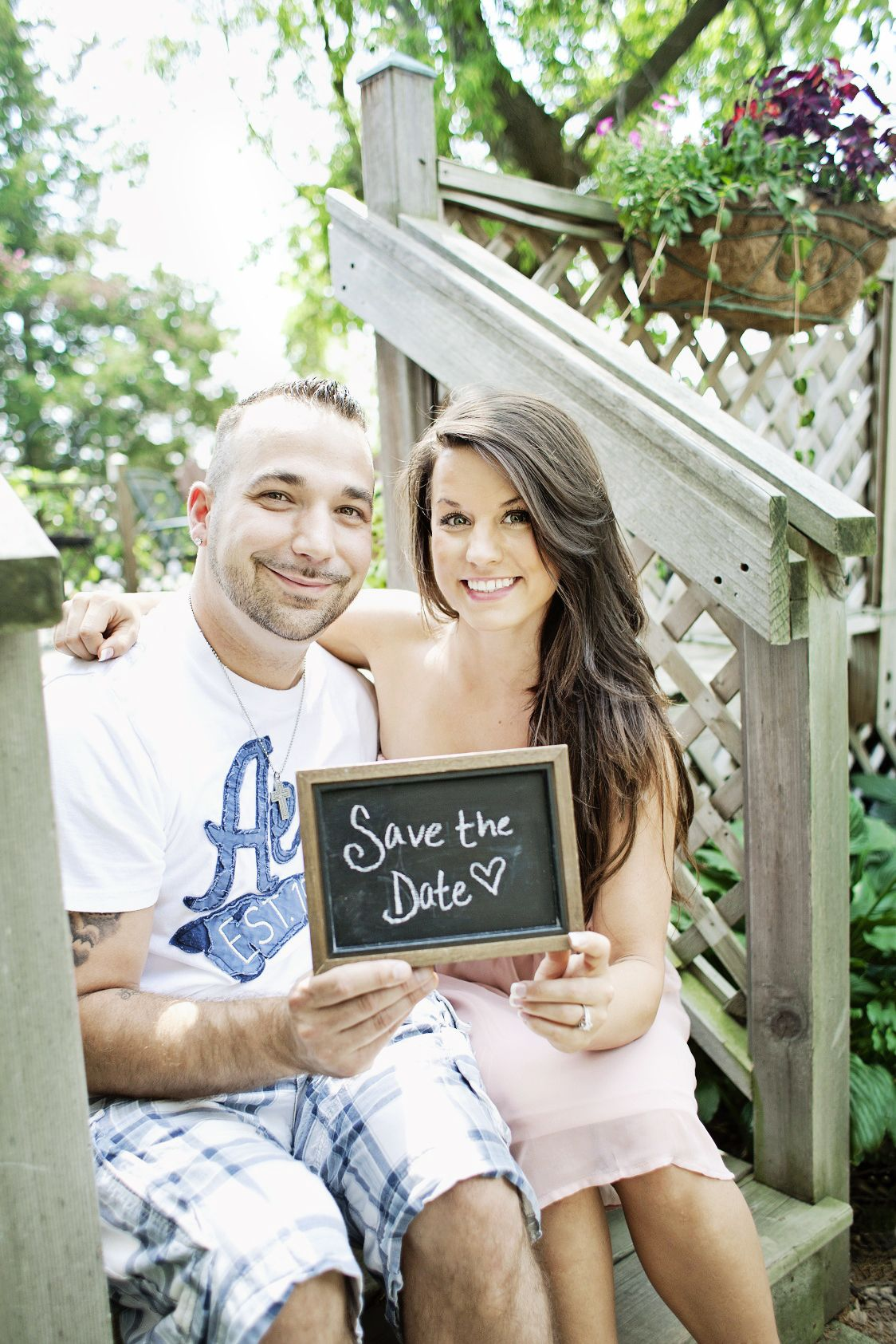 Save The Date w. chalkboard!  http://www.vbphotomn.com/  ©Veronica Barnes Photography, 2012.
