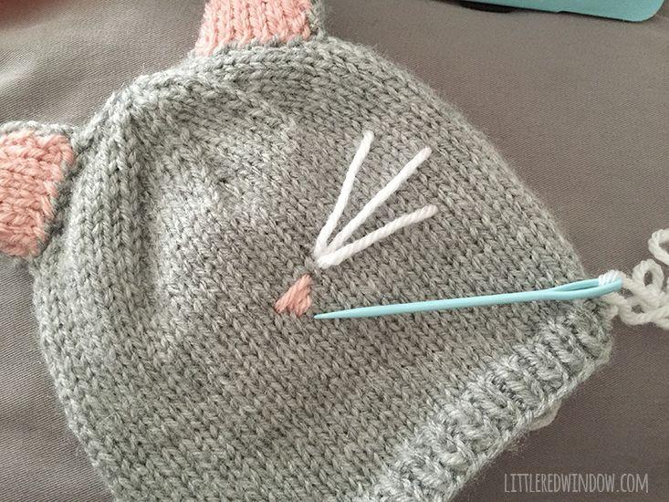 Pretty kitty cat hat knitting pattern knitting patterns and patterns - Free cat hat knitting pattern ...