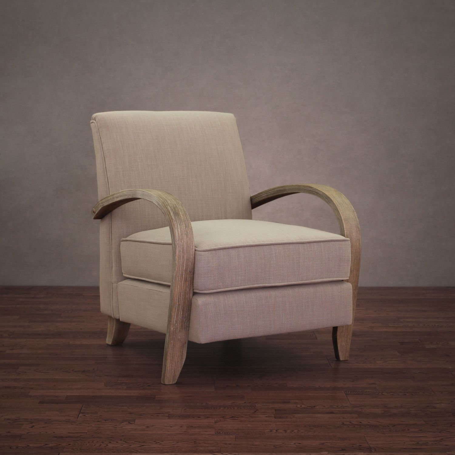 Bloomington Beige Linen Arm Chair By I Love Living