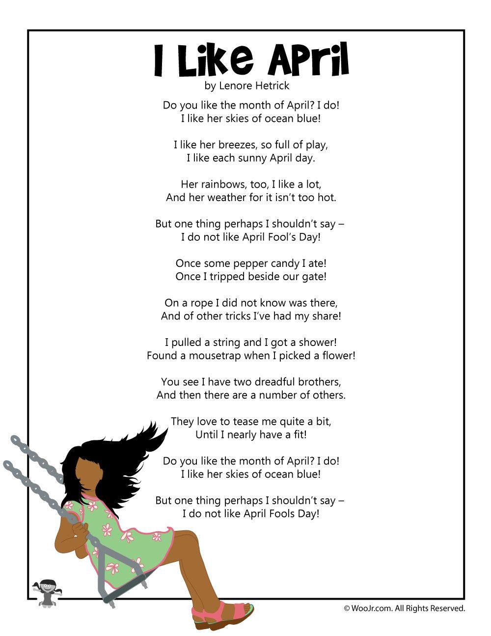 April Fools Day Poems   Woo! Jr. Kids Activities   Kids poems [ 1294 x 1000 Pixel ]