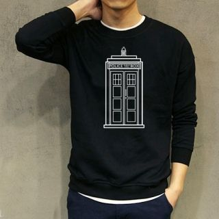 Police box Doctor Who sweatshirt XXXL fleece pullover | Doctor Who ...