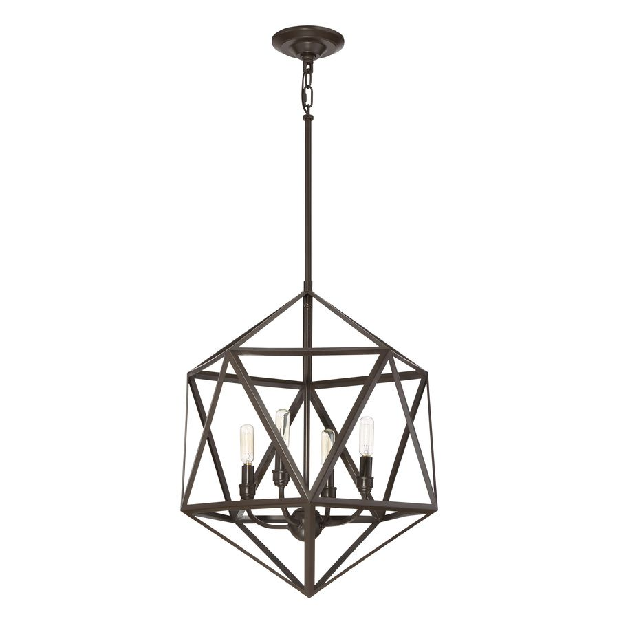 Shop Quoizel Liberty Park 18 In W Bronze Pendant Light With Shade At Lowes