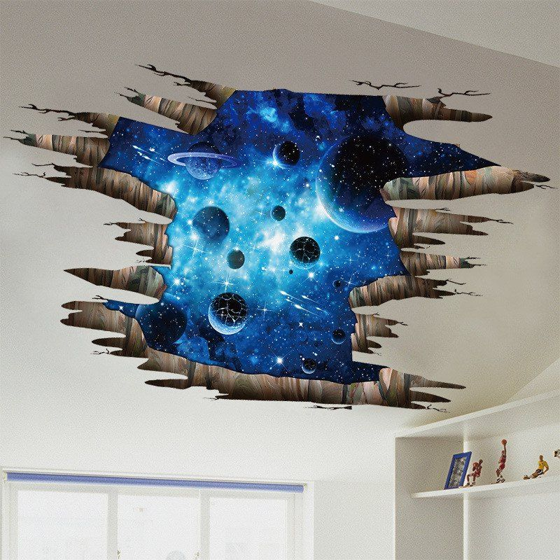 Home Decoration 3D Galaxy Planet Removable Wall Stickers for Decor ...