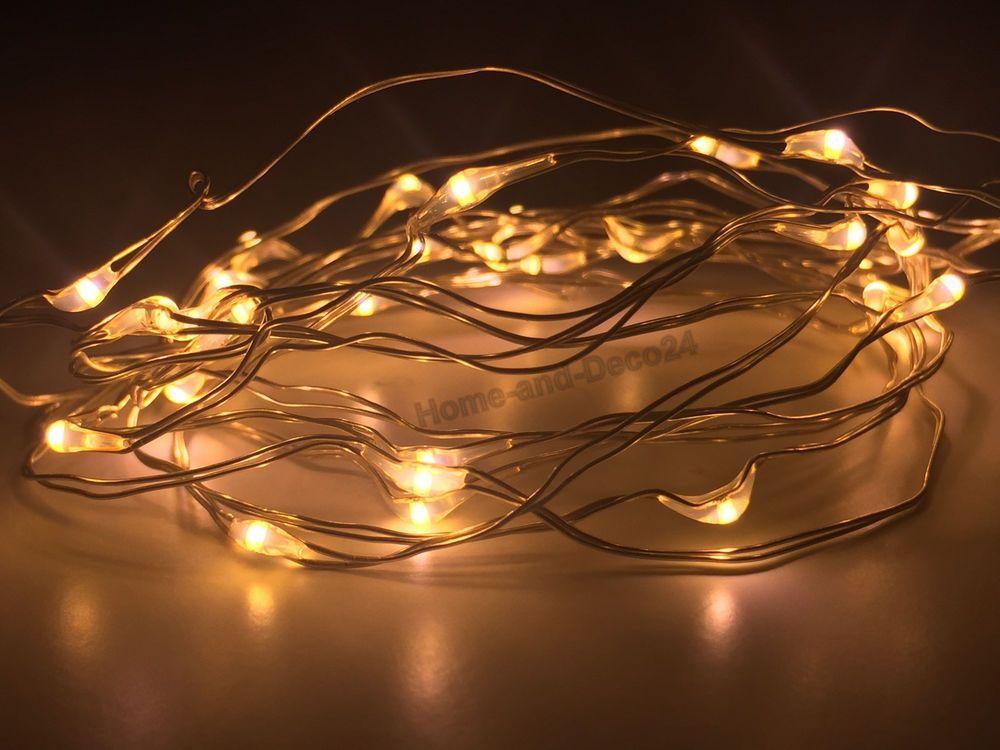 5 x 10er LED Drahtlichterkette Weihnachts Lichterkette Microdraht inkl Batterien in Möbel & Wohnen, Feste & Besondere Anlässe, Jahreszeitliche Dekoration | eBay!