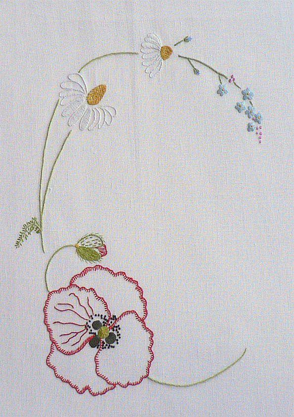 Field Flowers Alphabet - C U2013 French Needlework Kits Cross Stitch Embroidery Sophie Digard ...