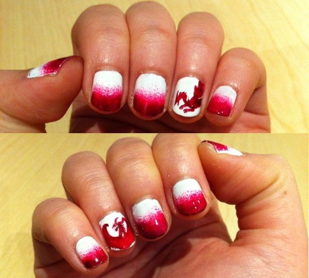 Love the Dragon Age nail art - Love The Dragon Age Nail Art Nails Pinterest Dragon Age