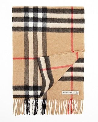 182ed63ae82dc Burberry London Giant Icon Check Cashmere Scarf | Bloomingdale's ...