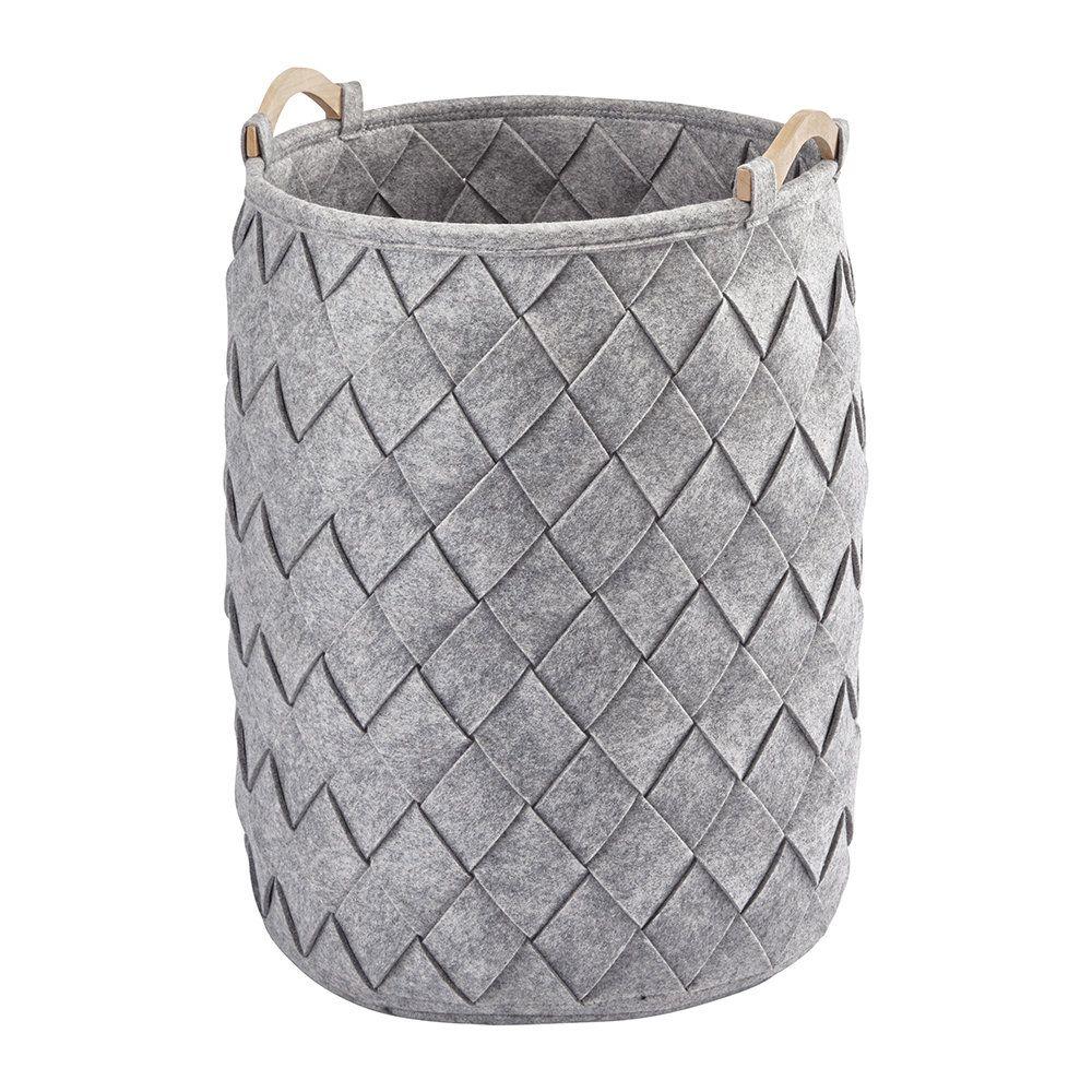 Buy Aquanova Amy Laundry Basket Silver Grey Laundry Hamper