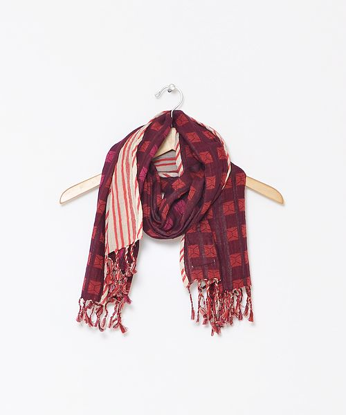 ace & jig Fall13 provencial scarf in peppermint and oxblood @Conifer in San Francisco