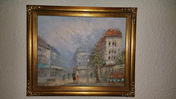 Parisian,Impressionist style,Parisian Street scene,Burnett
